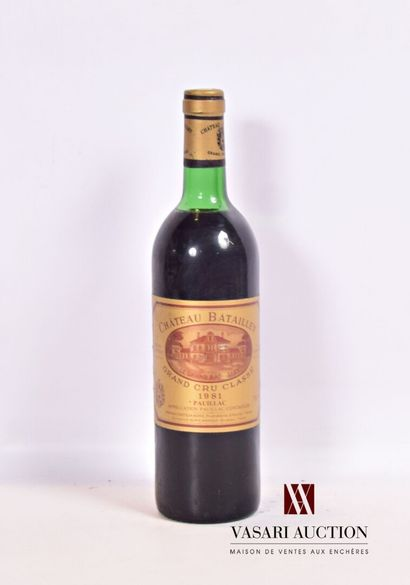 1 bouteilleChâteau BATAILLEYPauillac GCC1981...