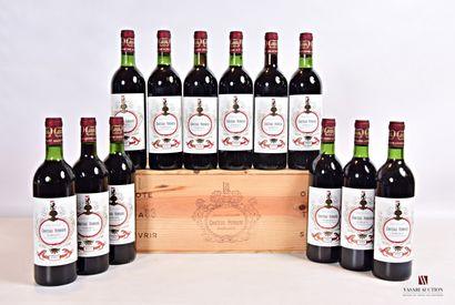 12 bouteillesChâteau FERRIÈREMargaux GCC1983...