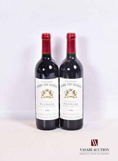 2 bouteillesChâteau GRAND PUY DUCASSEPauillac...