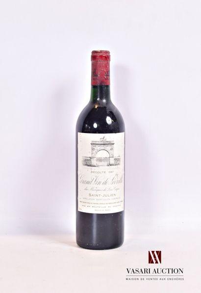 1 bouteilleChâteau LÉOVILLE LAS CASESSt...
