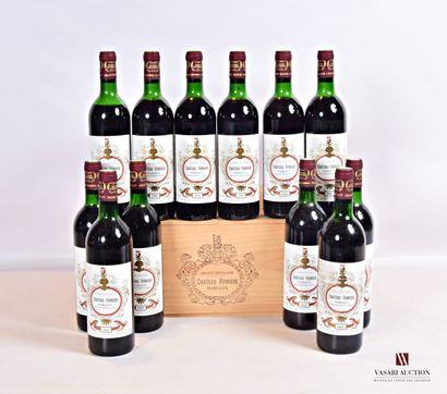 12 bouteillesChâteau FERRIÈREMargaux GCC1985...