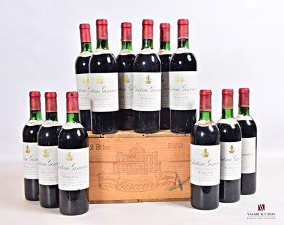 12 bouteillesChâteau GISCOURSMargaux GCC1970...
