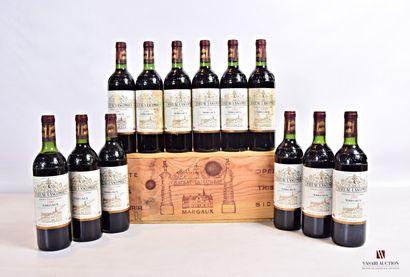 12 bouteillesChâteau LASCOMBESMargaux GCC1982...