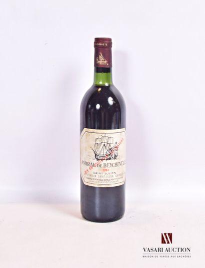1 bouteilleAMIRAL DE BEYCHEVELLESt Julien1984...