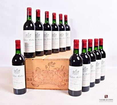 12 bouteillesChâteau MONTROSESt Estèphe...