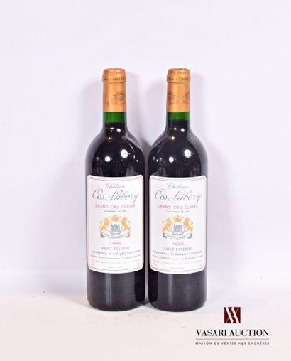 2 bouteillesChâteau COS LABORYSt Estèphe...