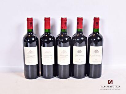 5 bouteillesSAINT ESTÈPHE mise Château Montrose...