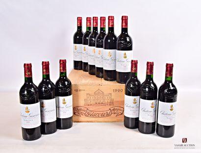 12 bouteillesChâteau GISCOURSMargaux GCC1990...