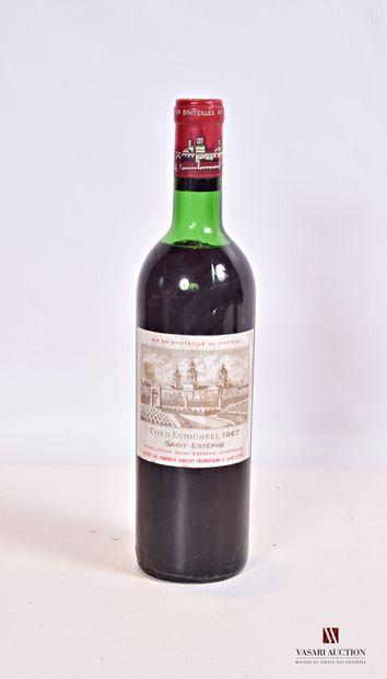 1 bouteilleChâteau COS D'ESTOURNELSt Estèphe...