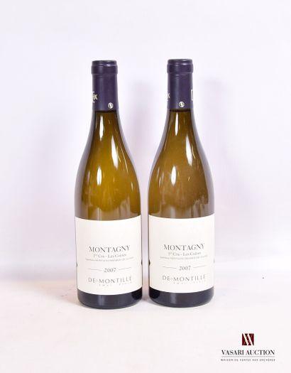 2 bouteillesMONTAGNY blanc 1er Cru