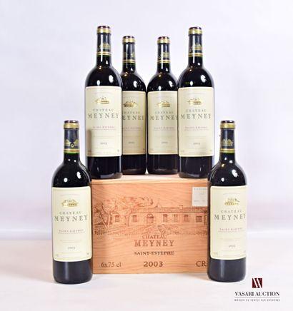 6 bouteillesChâteau MEYNEYSt estèphe CB2003...