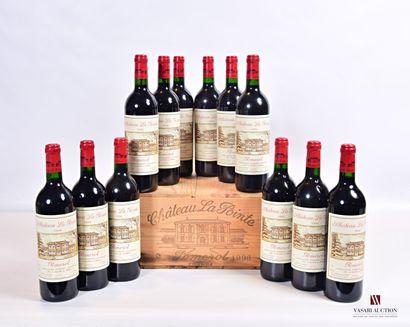 12 bouteillesChâteau LA POINTEPomerol1996...