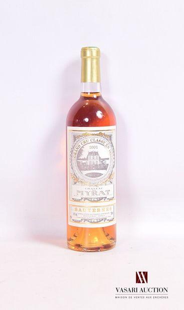 1 bouteilleChâteau DE MYRATSauternes GCC2001...