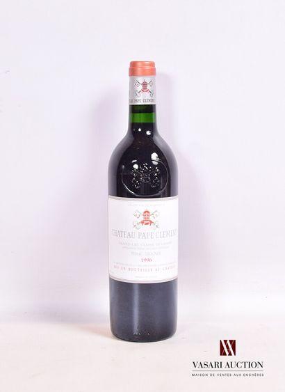 1 bouteilleChâteau PAPE CLÉMENTGraves GCC1996  Présentation et niveau, impe...