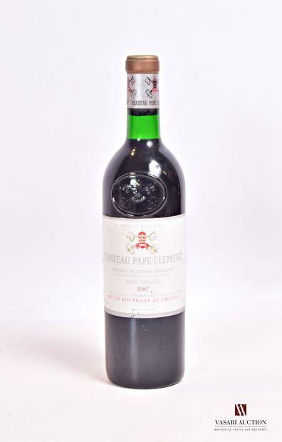1 bouteilleChâteau PAPE CLÉMENTGraves GCC1987...
