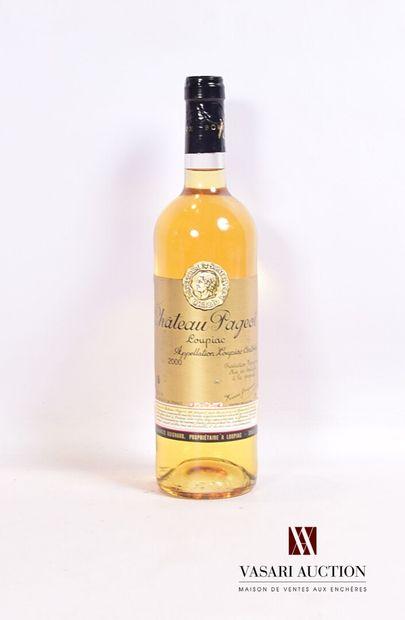 1 bouteilleChâteau PAGEOTLoupiac2000  Et/...