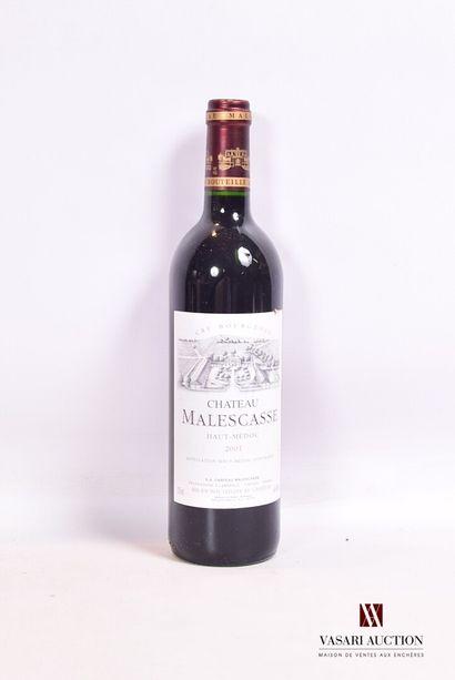 1 bouteilleChâteau MALSCASSEHaut Médoc...