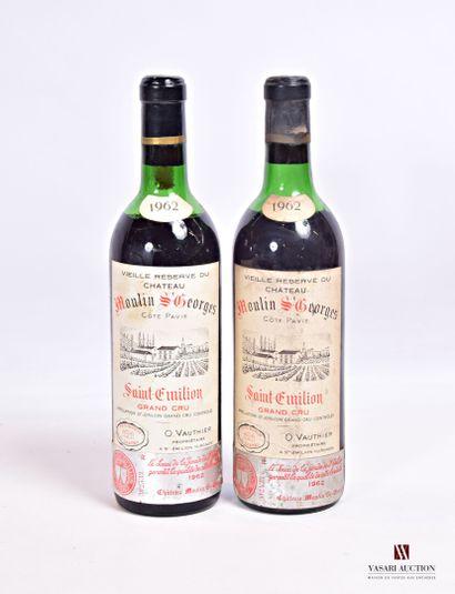 2 bouteillesChâteau MOULIN St GEORGESSt...