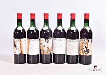 6 bouteillesChâteau MARQUIS DE TERMEMargaux...