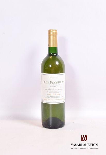 1 bouteilleCLOS FLORIDÈNEGraves2000  Et....