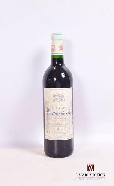 1 bouteilleChâteau ROLLAN DE BYMédoc CB2001...
