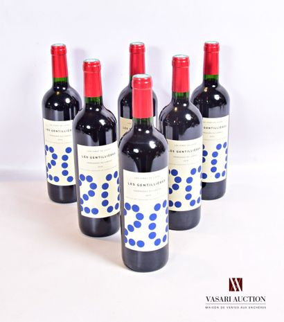 6 bouteillesLES GENTILLÈRES