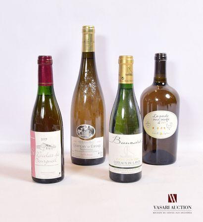 Lot de 4 bouteilles de blanc comprenant :...