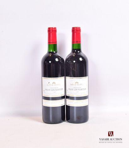 2 bouteillesChâteau PILOT LES MARTINSLussac...