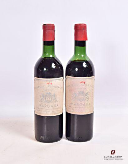 2 bouteillesChâteau CHARMANTMargaux1964...