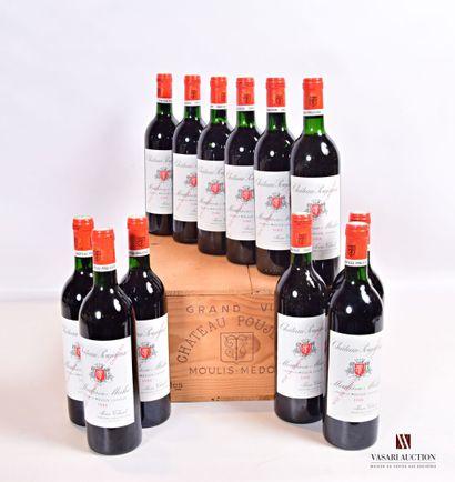 12 bouteillesChâteau POUJEAUXMoulis1988...
