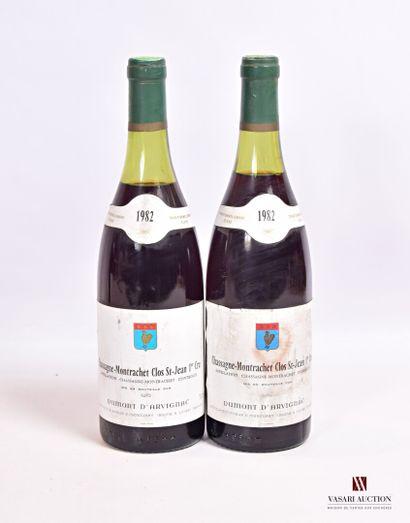 2 bouteillesCHASSAGNE MONTRACHET Clos St...