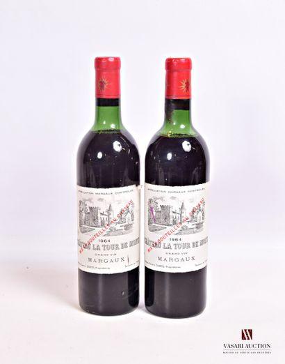 2 bouteillesChâteau LA TOUR DE MONSMargaux1964...