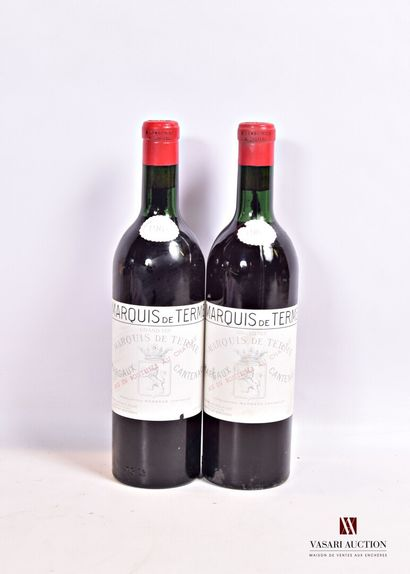 2 bouteillesChâteau MARQUIS DE TERMEMargaux...