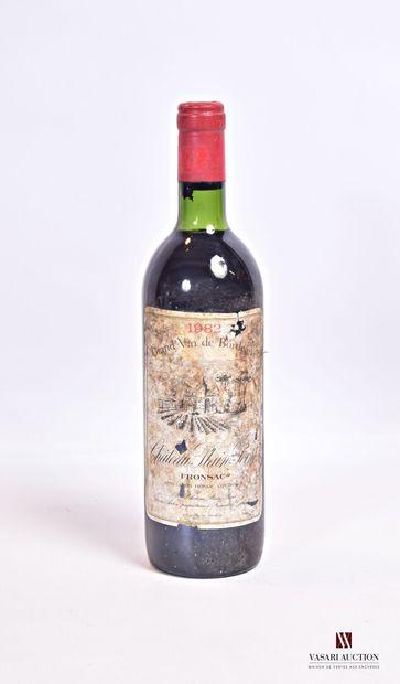 1 bouteilleChâteau PLAIN POINTFronsac1982...