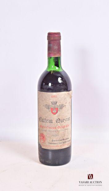 1 bouteilleChâteau QUEYRONSt Emilion GC1982...