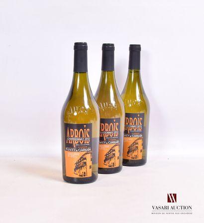 3 bouteillesARBOIS blanc Chardonnay mise...