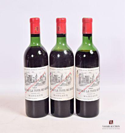 3 bouteillesChâteau LA TOUR DE MONSMargaux1964...