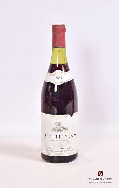 1 bouteilleJULIÉNAS mise Nicolas Michaud...
