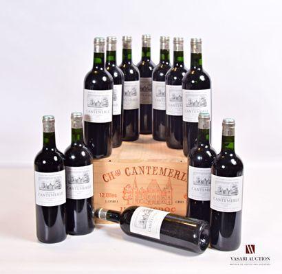 12 bouteillesChâteau CANTEMERLEHaut Médoc...