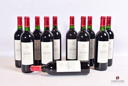 11 bouteillesChâteau DILLONHaut Médoc CB2000...