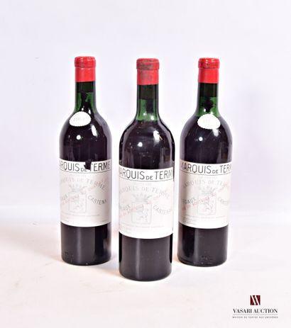 3 bouteillesChâteau MARQUIS DE TERMEMargaux...