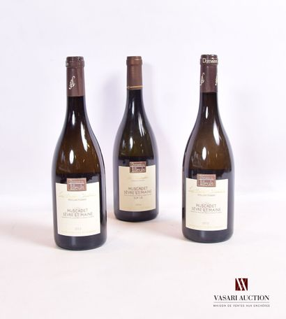 Lot de 3 bouteilles mise Domaine Tilleuls...