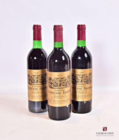 3 bouteillesChâteau CANTENAC BROWNMargaux...