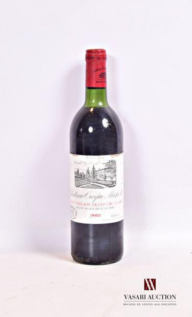 1 bouteilleChâteau CROQUE MICHOTTESt Emilion...