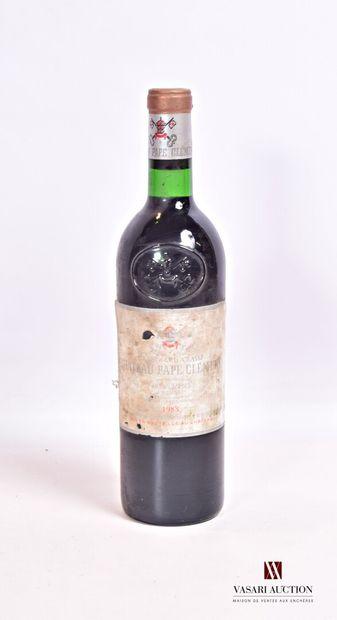 1 bouteilleChâteau PAPE CLÉMENTGraves GCC1983...