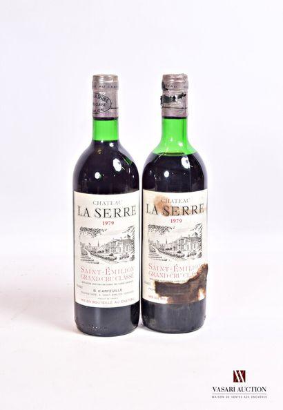 2 bouteillesChâteau LA SERRESt Emilion...