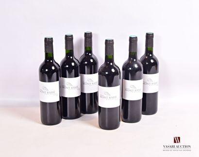 6 bouteillesDomaine MONT RAMÉCôtes de Duras2011...