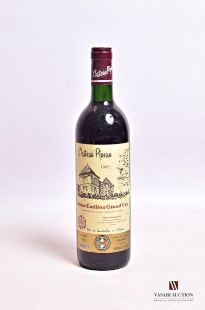 1 bouteilleChâteau PIPEAUSt Emilion GC1985...
