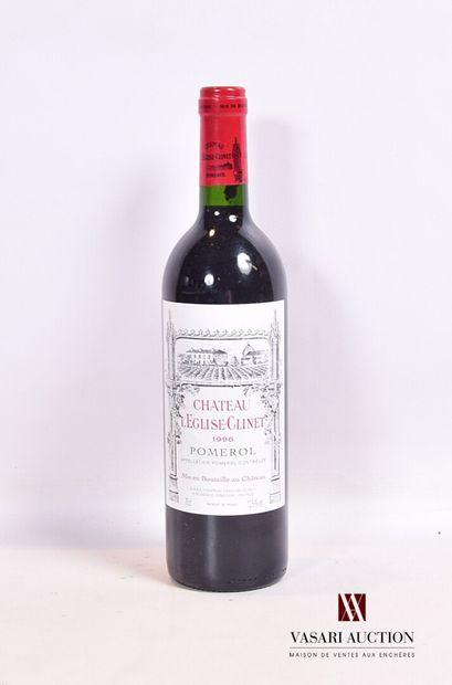 1 bouteilleChâteau L'ÉGLISE CLINETPomerol1996...