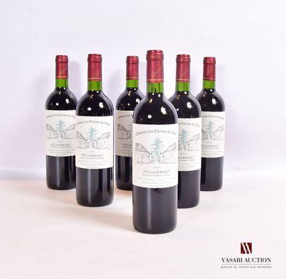6 bouteillesPÉCHARMANT mise Château Les...